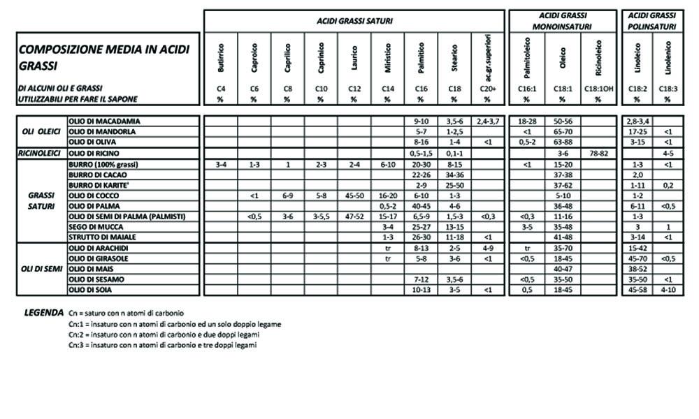 contenuto medio in acidi grassi negli oli copia